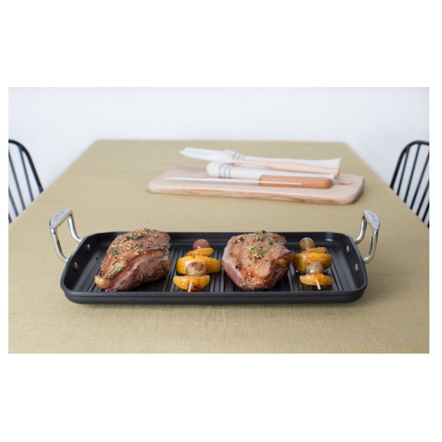 Grill geant anti-adherant 34 x 25 cm Le Creuset grillages