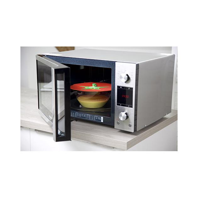 Couvercle de cuisine en silicone Tomate utilisable au micro-ondes