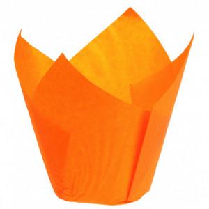 Caissettes en Papier Tulipcup Orange Ø 5 cm H 8 cm (x200)