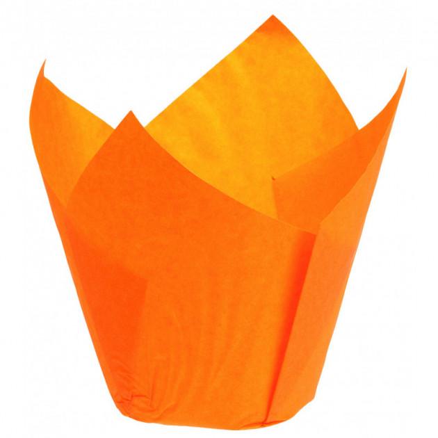 Caissettes en Papier Tulipcup Orange