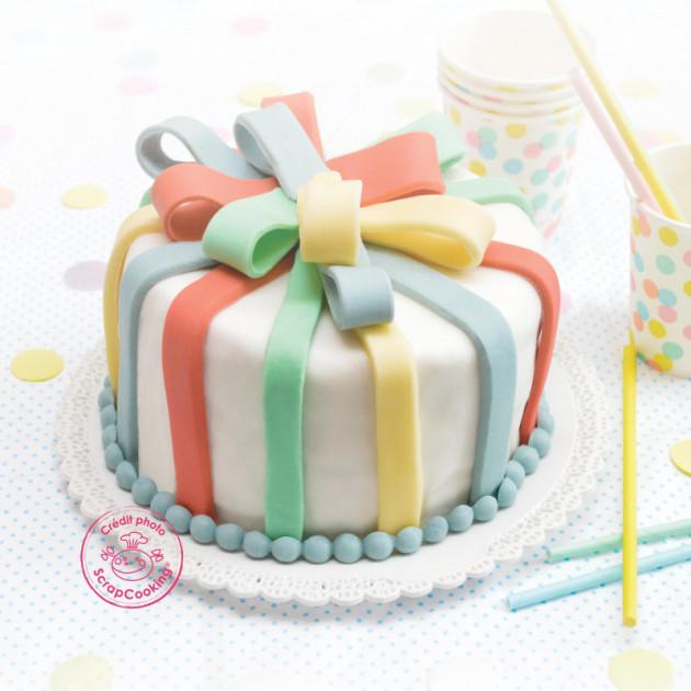 Presentation de la gamme Pate a sucre couleurs pastel ScrapCooking