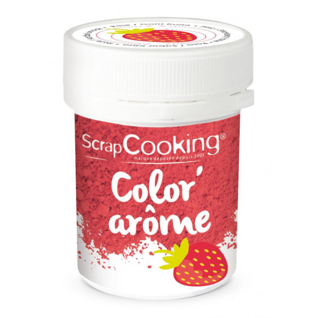 Color'Arome Rose / Fraise 10g Scrapcooking