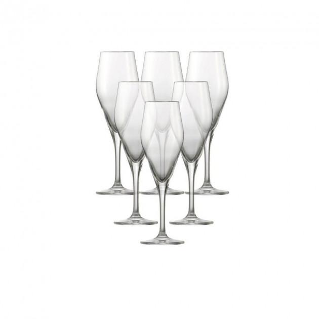 FIN DE SERIE Lot de 6 Flûtes à Champagne AUDIENCE Schott Zwiesel