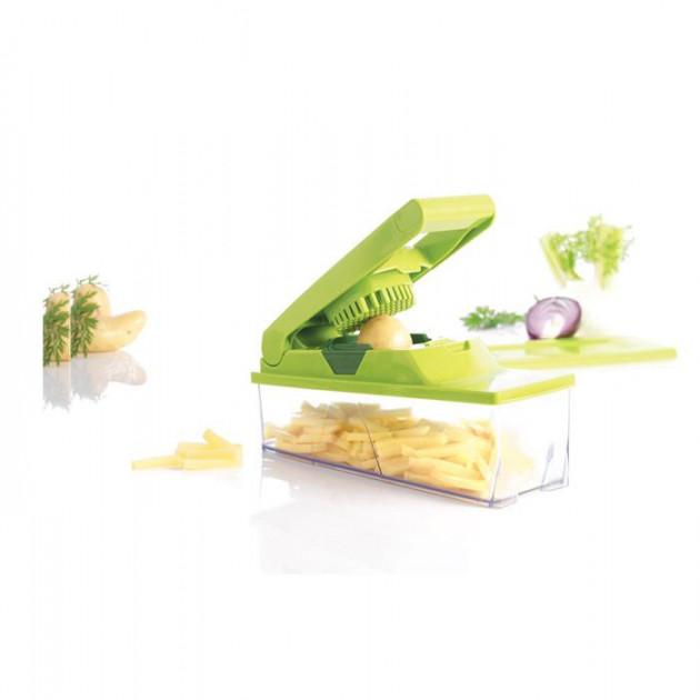 Coupe legumes permettant de realiser des batonnets. des des et des tranches