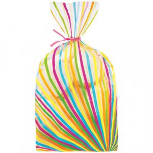 Sachets à Confiseries Lignes Multicolore x20 Wilton