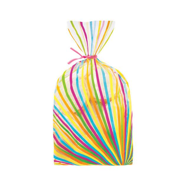 Sachet a confiserie lignes multicolore x20 Wilton