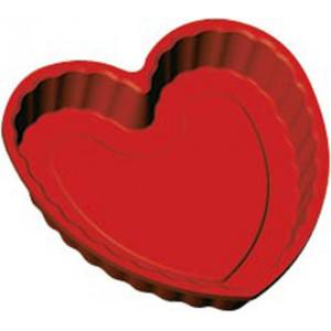 Moule professionnel forme Coeur en silicone souple 22 x 21,8 cm