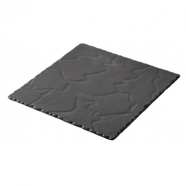 Assiette Carree Ardoise 15 x 15 cm Basalt Revol