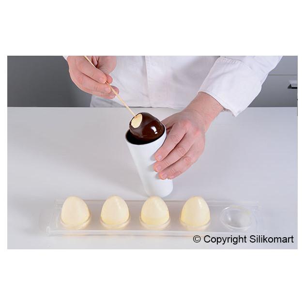 Realisation d'oeufs avec le Moule 5 Oeufs silicone Silikomart