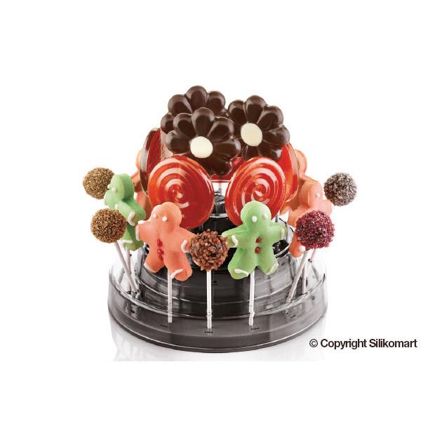 Support Pop Cake Noir Ø 225 mm Silikomart