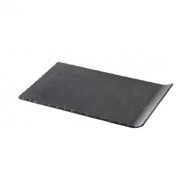 Assiette Rectangulaire Ardoise 33.2 x 20 cm Basalt Revol