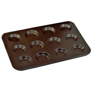 Plaque 12 mini tartelettes anti-adhérent