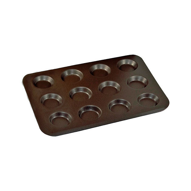 Plaque 12 mini tartelettes anti-adherent - Gobel