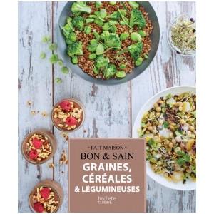 Livre de Recettes Graines, Céréales et Légumineuses, chez Hachette