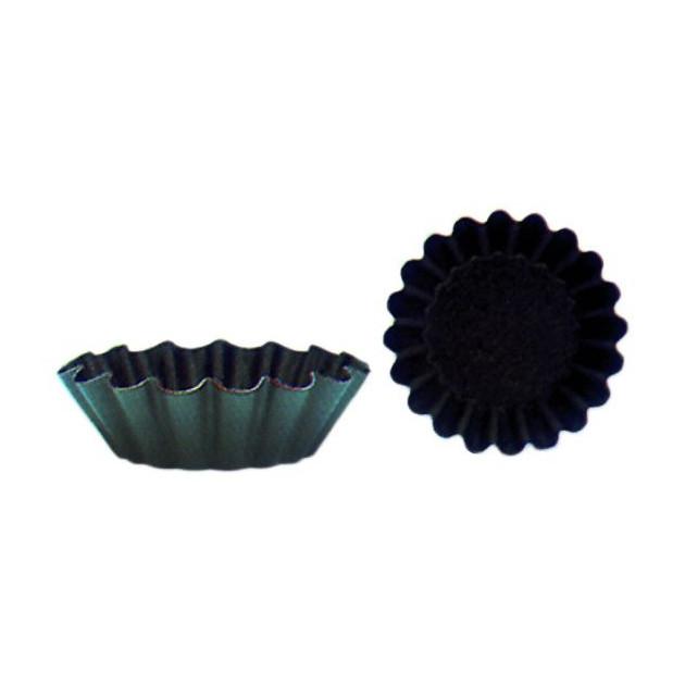 Moule Brioche Cotes Fines 7.5 cm x H 2.5 cm (x12) Matfer
