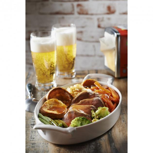Recette servie dans un plat ovale Belle Cuisine Revol
