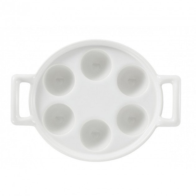 Presentation du plat a escargots en porcelaine Revol