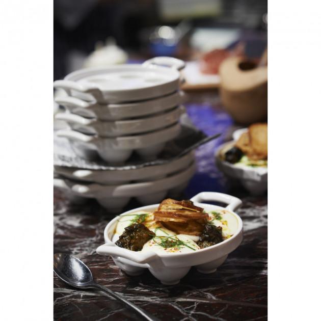 Escargots cuisines dans un plat a escargots 6 trous Belle Cuisine Revol
