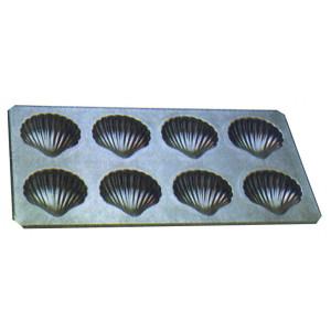 Plaque 8 Coques de 6,5 cm anti-adhésive