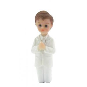 Sujet Communion Garçon en prière 8 cm