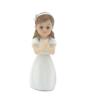 Sujet Communion Fille en prière 8 cm