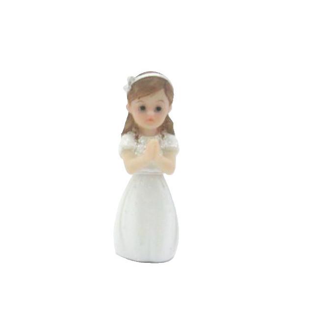 Sujet Communion Fille en priere 8 cm