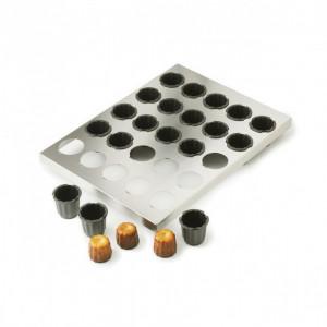 Plaque de 30 Cannelés 3,5 cm Exoglass 40 x 30 cm