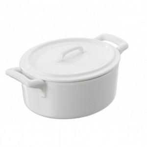 Cocotte Ovale Blanche 45cl Belle Cuisine Revol