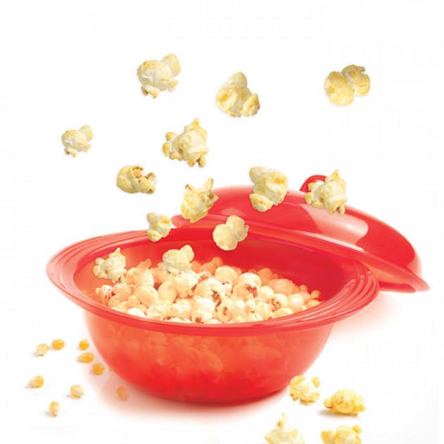 Cuit Pop-corn rouge translucide en silicone Mastrad