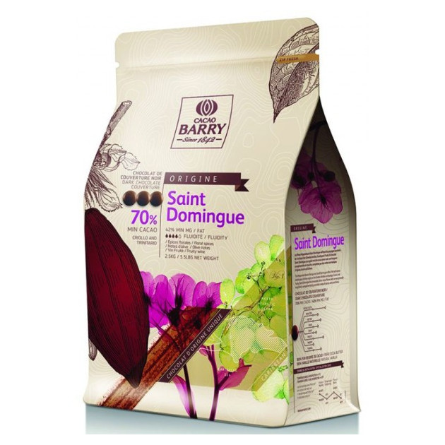 Chocolat noir origine Saint-Domingue 70% 2.5 kg