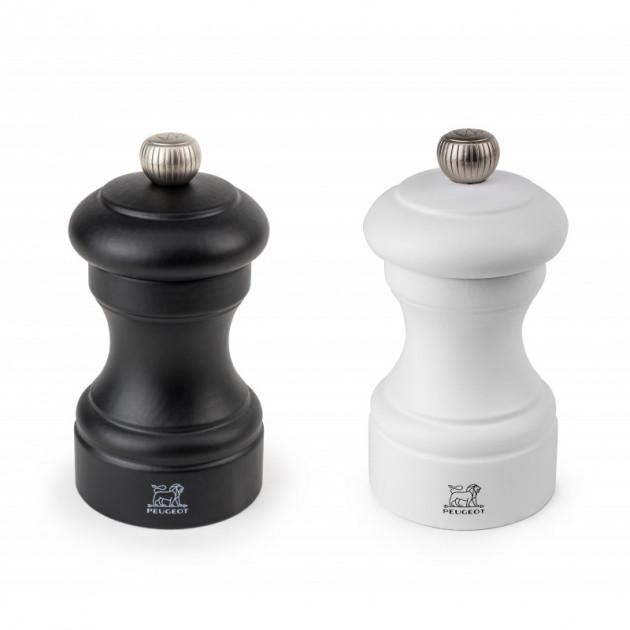 Duo Moulin a Poivre et a Sel Bistro 10 cm Noir et Blanc Peugeot