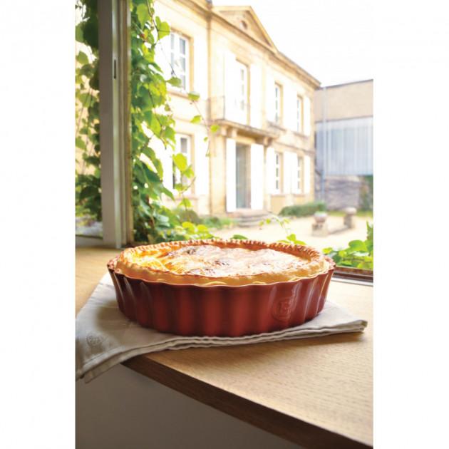 Realisation d'une tarte dans la Tourtiere Haute Emile Henry