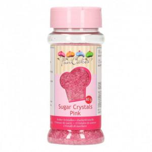 Sucre coloré Rose 80g Funcakes