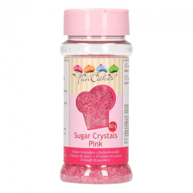 Sucre colore Rose 80g Funcakes