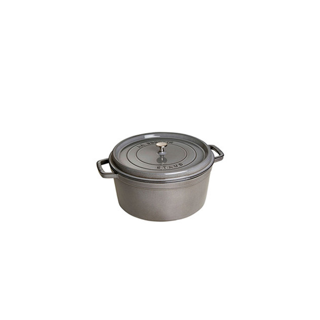 STAUB Cocotte Fonte Ronde 12 cm Gris Graphite 0.4 L