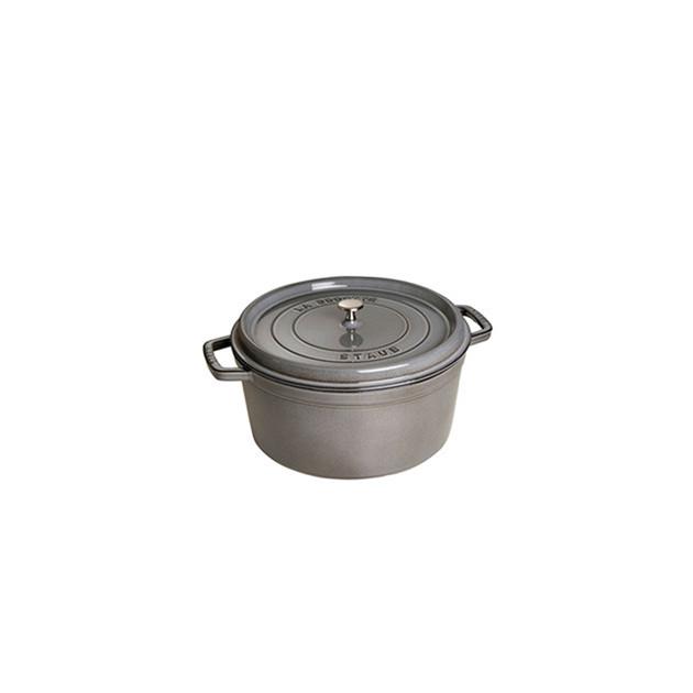 STAUB Cocotte Fonte Ronde 14 cm Gris Graphite 0.8 L