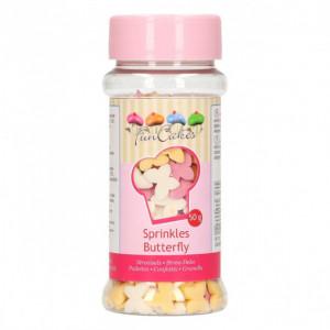 Décors en sucre Papillons 50 g Funcakes