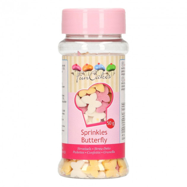 Decors en sucre Papillons 50 g Funcakes