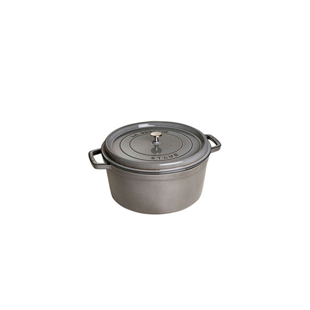 STAUB Cocotte Fonte Ronde 16 cm Gris Graphite 1.2 L