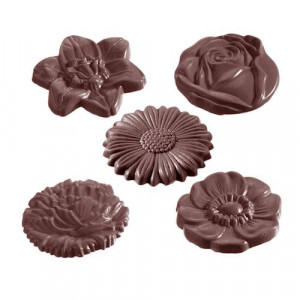 Moule Chocolat Fleurs (x10) Chocolate World