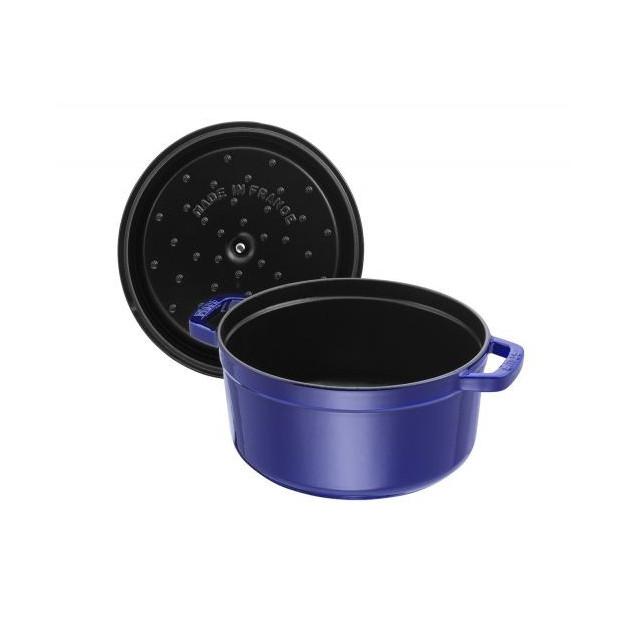 Couvercle avec picots Bleu intense pour cocotte Staub