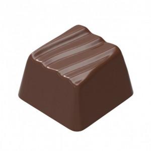 Moule Chocolat Rocher Carré Ondulé (x24) Chocolate World