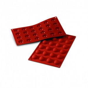 Moule Silicone 24 Demi-sphères 3 cm x H 1,5 cm Silikomart