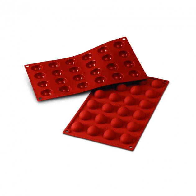 Moule Silicone 24 Demi-spheres 3 cm x H 1.5 cm Silikomart