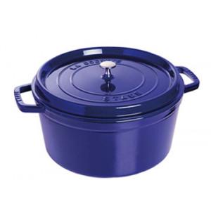 STAUB Cocotte Fonte Ronde 26 cm Bleu Intense Majolique 5,2 L