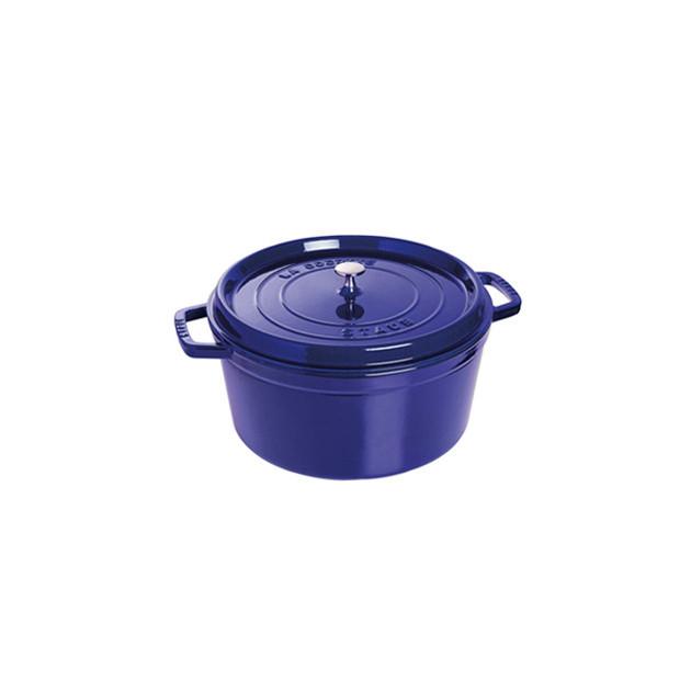 STAUB Cocotte Fonte Ronde 26 cm Bleu Intense Majolique 5.2 L