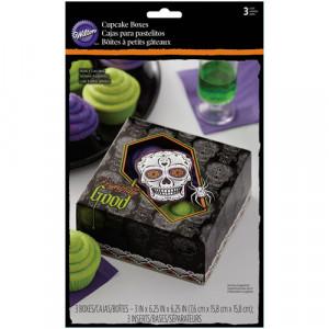 Boîte à Gâteau Tête de Mort (x3)