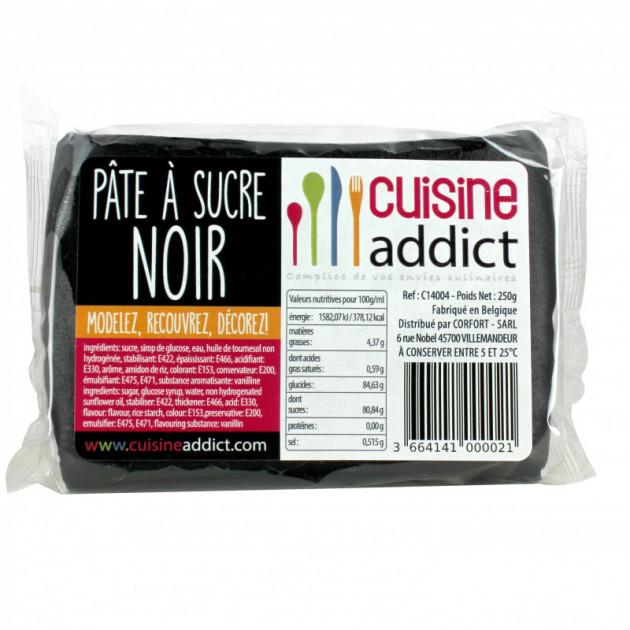 Pate a Sucre Noir 250g Cuisineaddict