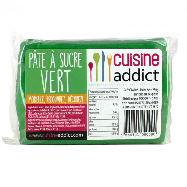 Pate a Sucre Vert 250g Cuisineaddict