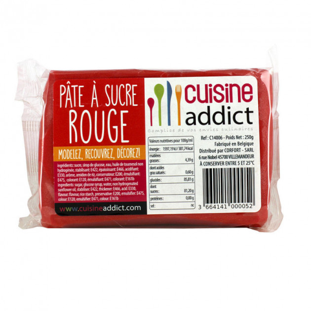 Pate a Sucre Rouge 250g Cuisineaddict